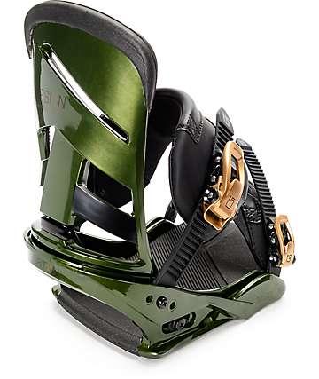Burton Mission Track Re:Flex fijaciones de snowboard en verde oscuro