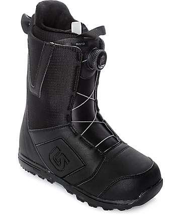 Burton Moto Black Boa Snowboard Boots