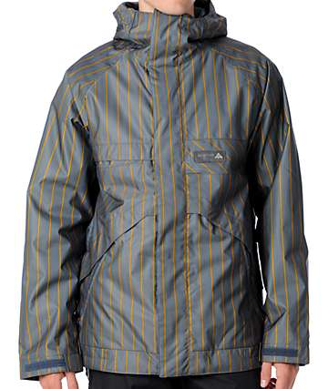 Burton Poacher Grey Stripe 10K Snowboard Jacket