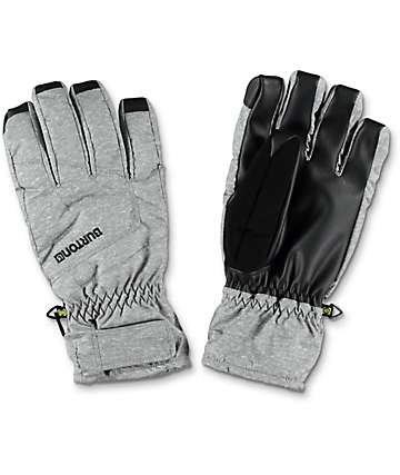 Burton Profile Heather Grey & Black Snowboard Under Gloves