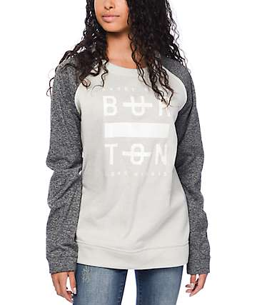 Burton Quartz Dove Heather Crew Neck Sweatshirt