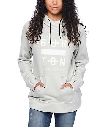 Burton Quartz Heather Grey Pullover Hoodie
