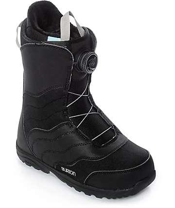 Burton Womens Mint Black Boa Snowboard Boots