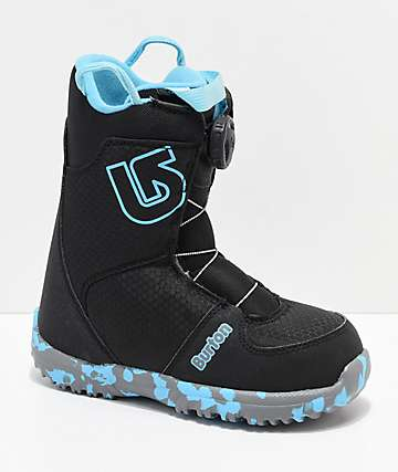 Burton Youth Grom Black Boa Snowboard Boots