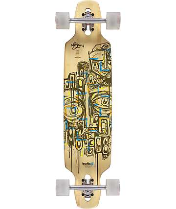 "Bustin Mission Bamboo 36"" Drop Through Longboard Complete"