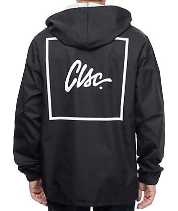 CLSC Box Hooded Black Coaches Jacket