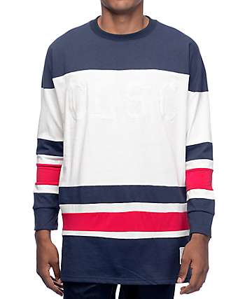 CLSC Face Off White, Red & Navy Hockey Jersey
