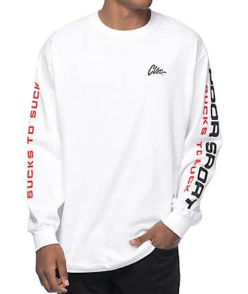 CLSC PS-89 White Long Sleeve T-Shirt