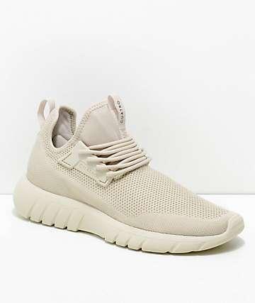 CU4TRO Bolt zapatos tejidos en color hueso