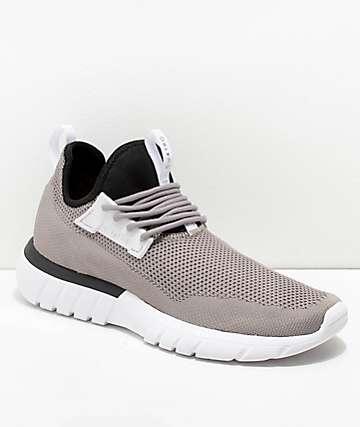 CU4TRO Bolt zapatos tejidos en gris y negro