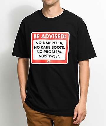 Cake Face Be Advised Black T-Shirt