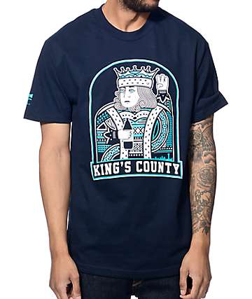 Cake Face Kings County Navy T-Shirt