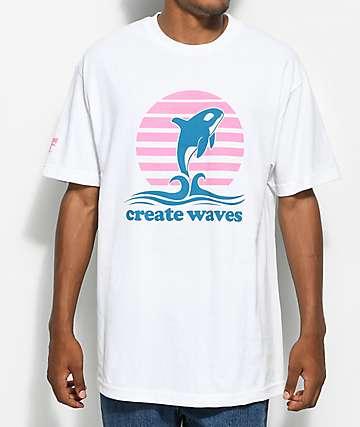 Cake Face PNW Create Waves camiseta blanca