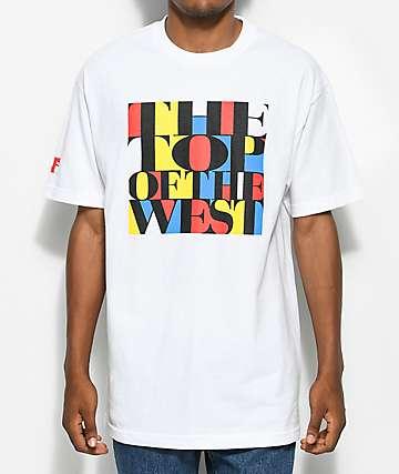 Cake Face PNW Top Block camiseta blanca