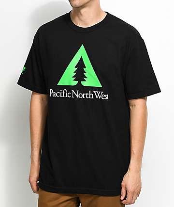Cake Face PNW Tri-Pine Black T-Shirt