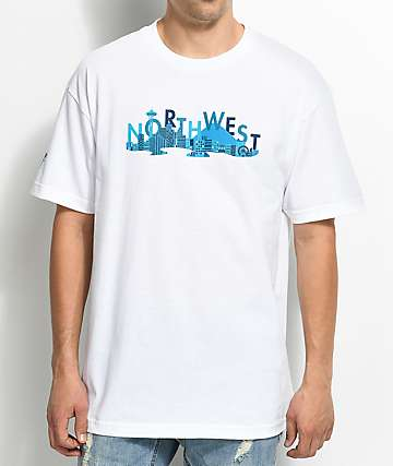 Cake Face Sea City Life White T-Shirt