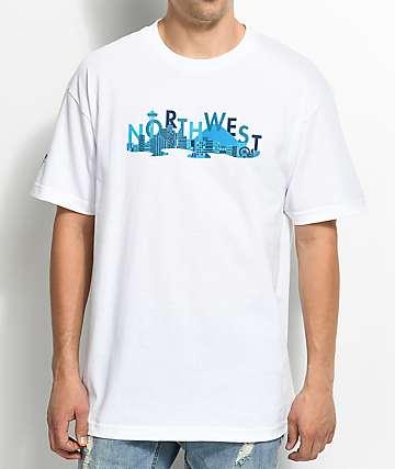 Cake Face Sea City Life camiseta blanca