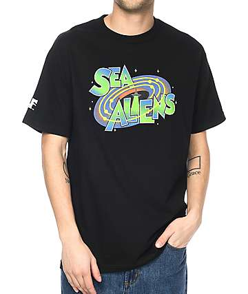 Cake Face Sea Jams Black T-Shirt
