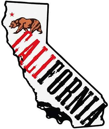California Bear Fill Sticker