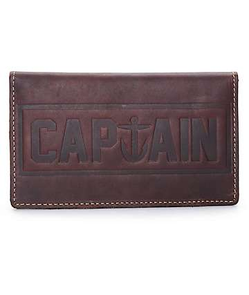 Captain Fin Co Tranny Brown Leather Wallet
