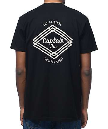 Captain Fin Co. Proven Black T-Shirt