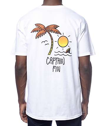 Captain Fin Island Fever White T-Shirt