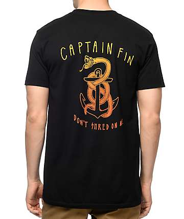 Captain Fin Shred On Me Black T-Shirt