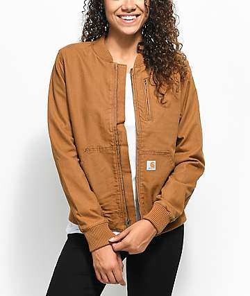 Carhartt Crawford Brown Bomber Jacket