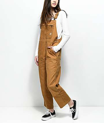 Carhartt Crawford Double Front Bib Brown Overalls