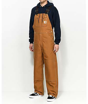 Carhartt Duck peto marrón
