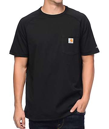 Carhartt Force Delmont Black Pocket T-Shirt