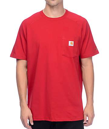 Carhartt Force Delmont Crimson T-Shirt