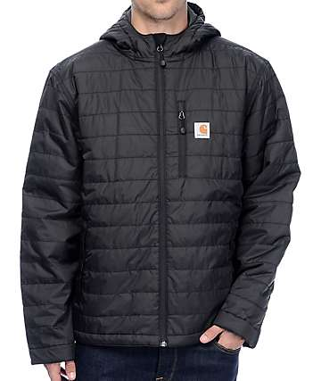 Carhartt Gilliam Black Hooded Water Repellent Jacket