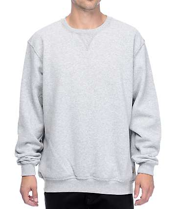 Carhartt Midweight Heather Grey Crew Neck Sweatshirt