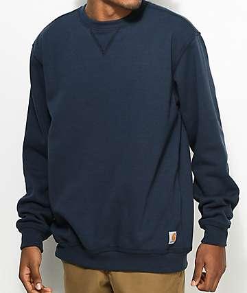 Carhartt Midweight Navy Crew Neck Sweatshirt