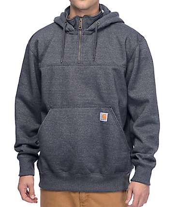 Carhartt Paxton Charcoal Heavyweight Quarter Zip Hoodie