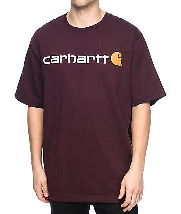 Carhartt Signature Logo Port Red T-Shirt