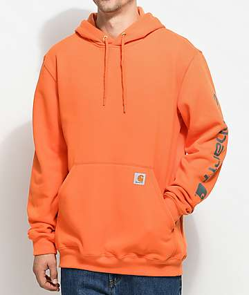 Carhartt Signature Orange & Charcoal Pullover Hoodie