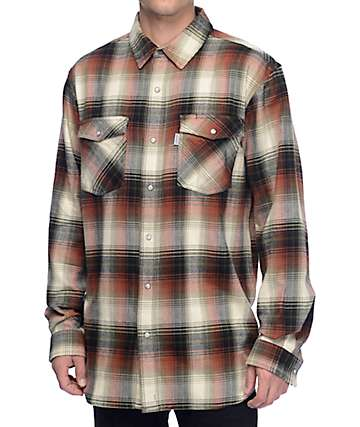 Carhartt Trumbull Snap Front Olive Plaid Shirt