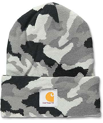Carhartt Watch RGD Grey Camo Beanie