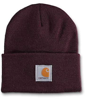 Carhartt Watch gorro en color vino