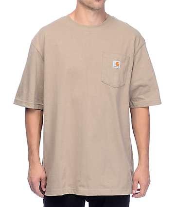 Carhartt Worker camiseta con bolsillo en marrón