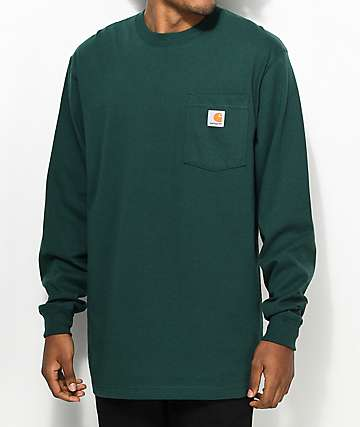 Carhartt Workwear Hunter Green Long Sleeve T-Shirt
