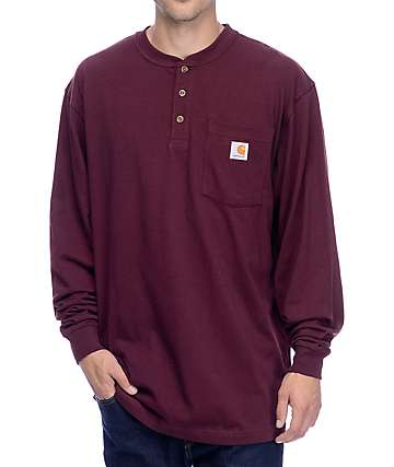 Carhartt Workwear Pocket Long Sleeve Port T-Shirt