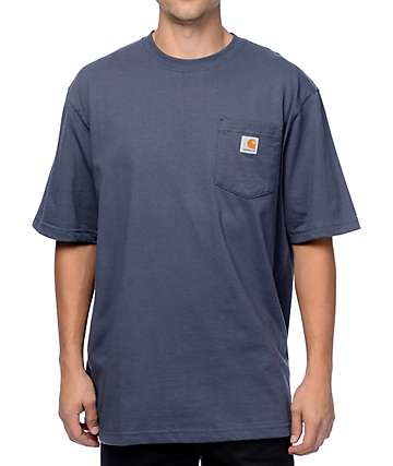 Carhartt Workwear Stream Blue Pocket T-Shirt