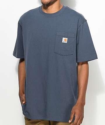 Carhartt Workwear camiseta azul con bolsillo