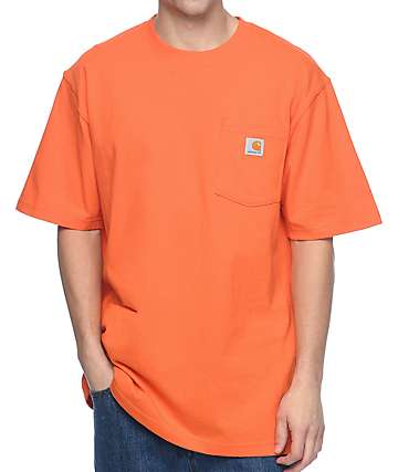 Carhartt Workwear camiseta con bolsillo en color naranja