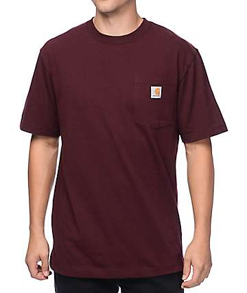 Carhartt Workwear camiseta con bolsillo en porto