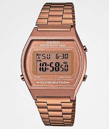 Casio Vintage reloj digital en color oro rosa