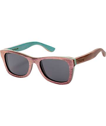 Cassette Jackson Brown & Green Skate Wood Sunglasses